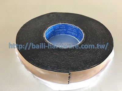 『寰岳五金』PC耐力板專用 日本原裝防水雙面膠 30*2mm*10M 黑膠 丁基膠帶 塑鋁板 採光罩 烤漆板 PC角浪板