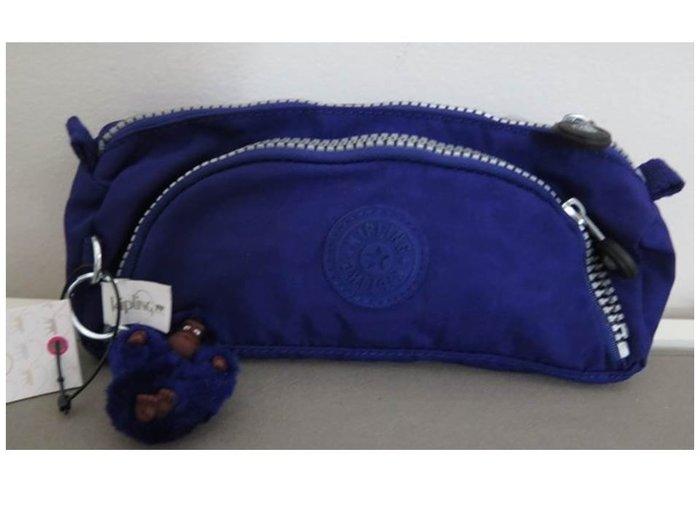 美國正品 KIPLING AC7089 藍色筆袋/化妝包/收納包