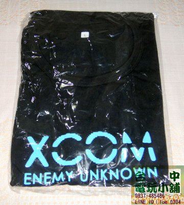 台中電玩小舖~XCOM Enemy Unknown 未知敵人 限定特典~T恤 (L號)~99