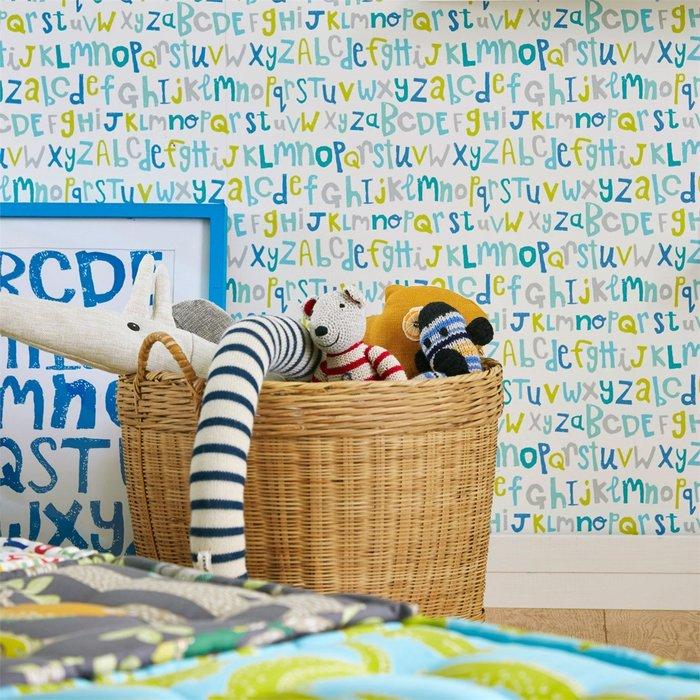 【Uluru】英國期貨壁紙.童趣 LETTERS PLAY (3色) 字母 塗鴉 兒童房 壁紙 ES101系列