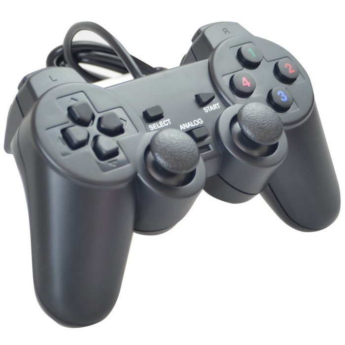 玩家首選 免驅動免安裝 雙震動 仿PS外型 手把 USB手把 電玩手把 高效能晶片 月光寶盒 日光寶盒 電腦【柑仔舖】