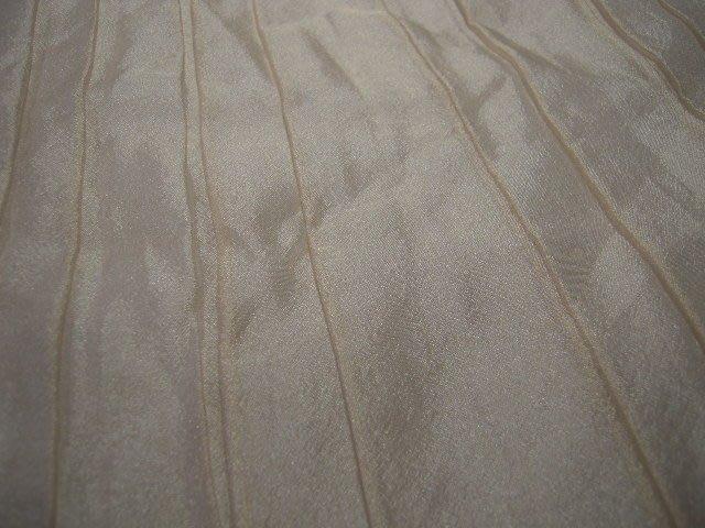 ※布箱子※ 高級進口零碼傢飾布~縐摺雙層雪紡紗(YD104)