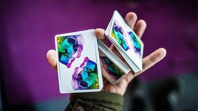 【天天魔法】【S986】正宗原廠~彩虹骷髏牌~Memento Mori Playing Cards