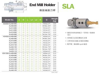 安威AW HSK-A SLA側固端銑刀桿