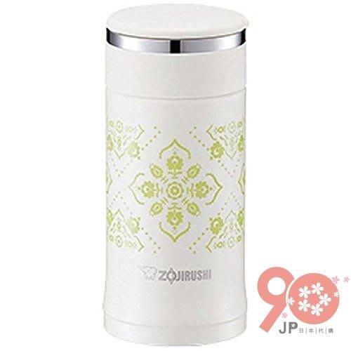 【90JP日本代購】ZOJIRUSHI象印 SM-ED20 迷你型可分解杯蓋不鏽鋼真空保溫杯 200M白色
