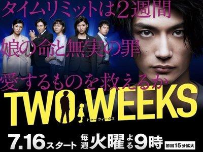 日劇《兩週/兩周 TWO WEEKS》Q三浦春馬/芳根京子/比嘉愛未(全新盒裝D9版3DVD)