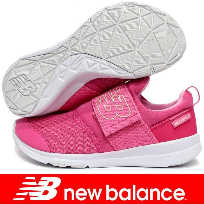 鞋大王New Balance POPRESPN 粉紅 單黏帶運動鞋(童鞋17-21㎝)【免運費,加贈襪子】800NB