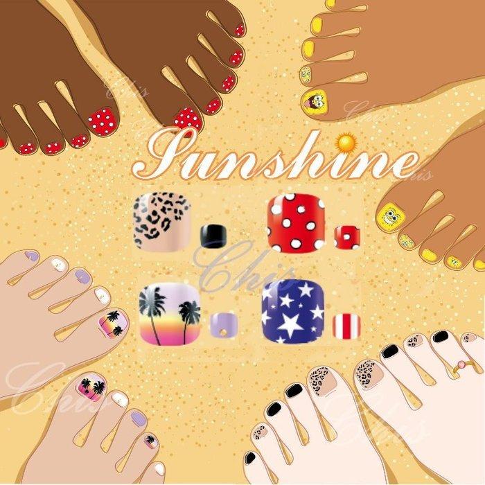 ChisStore 腳指甲貼 腳趾 熱銷卡通可愛造型指甲貼紙 美甲指甲油貼花 彩繪指甲果凍指甲貼片拖鞋海灘拖角彩繪指甲