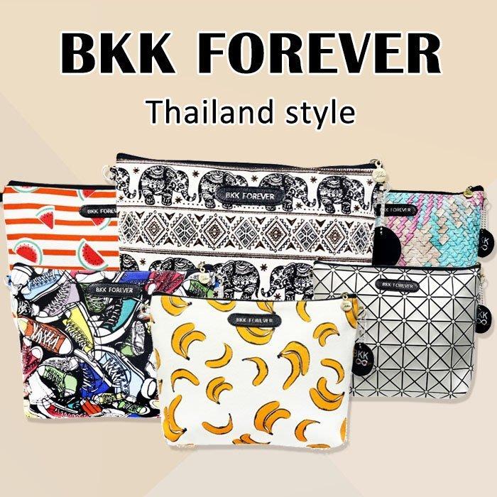 ☆小時候創意屋☆ 泰國 品牌 BKK FOREVER 包 曼谷包 BKK包 晚宴包 手機包 收納包 化妝包 側背包
