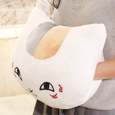 【便利公仔】含運 娘口三三夏目友人帳貓咪貓老師抱枕女生靠墊可愛毛絨玩具生日禮物