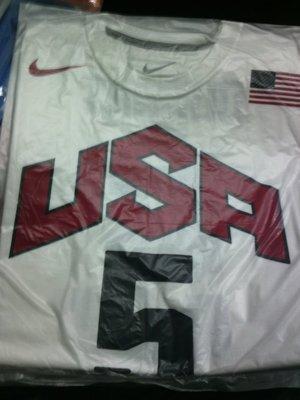 NIKE 2012 倫敦奧運 美國男籃 KEVIN DURANT 球員背號 T恤 LBJ KOBE KD