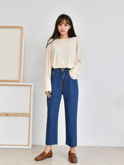 c-ting簡約韓國 質感牛仔丹寧 寬褲/100%韓國空運