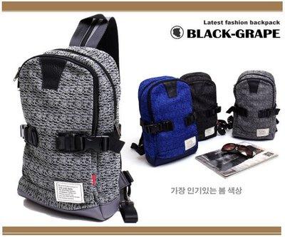 韓國輕量化帆布質感單車背包 /側背包 / 三用背包 【L32011】黑葡萄包包