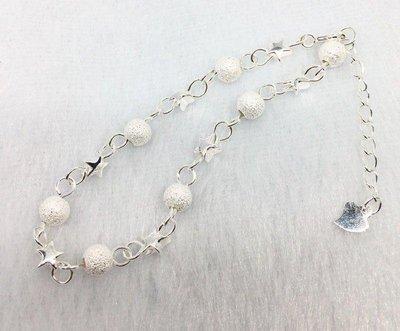 正生銀飾 🔥爆款滿天星 八星報喜-磨砂光珠轉運純銀手鍊