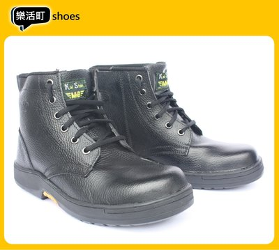 【樂活町】超熱賣! MIB 安全鞋 凱欣 耐磨 電焊 鋼頭鞋 工作鞋 黑 靴子 軍靴 側邊拉鏈 M-PLA601YI01
