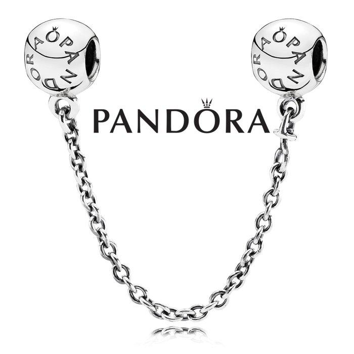 金永珍珠寶鐘錶* 2016最新款 PANDORA 潘朵拉 原廠真品 母親節 PANDORA LOGO 安全鍊 現貨*