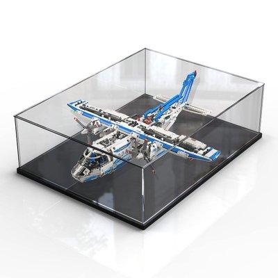 樂高 手辦 適用樂高42025 貨運飛機積木展示盒拼裝玩具模型透明防塵罩防塵盒 哆啦A夢的手提袋