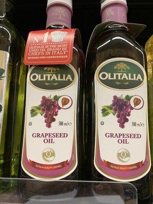 4罐組 Olitalia 奧利塔 葡萄籽油 1000ml 4瓶 (雙入禮盒組) 油品穩定耐高溫 低油煙 含豐富花青素