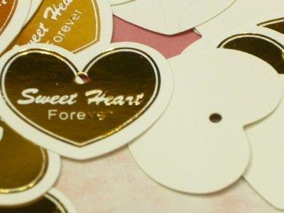 ~~~E26-1----sweet Heart心型燙金小吊卡 **大宗批發1萬個*0.2=2000