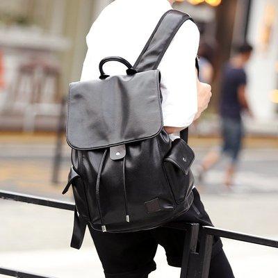 包包 雙肩包 大包 旅行包 防水包街頭背包雙肩包韓版皮質 商務潮流抽帶時尚背包書包旅行包潮2018
