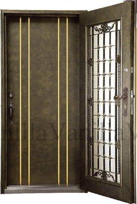 [廣山門窗] FM-01 雙玄關門(鍛造門 鑄鋁鋼木門 白鐵門 硫化銅門 防火門 三合一門)