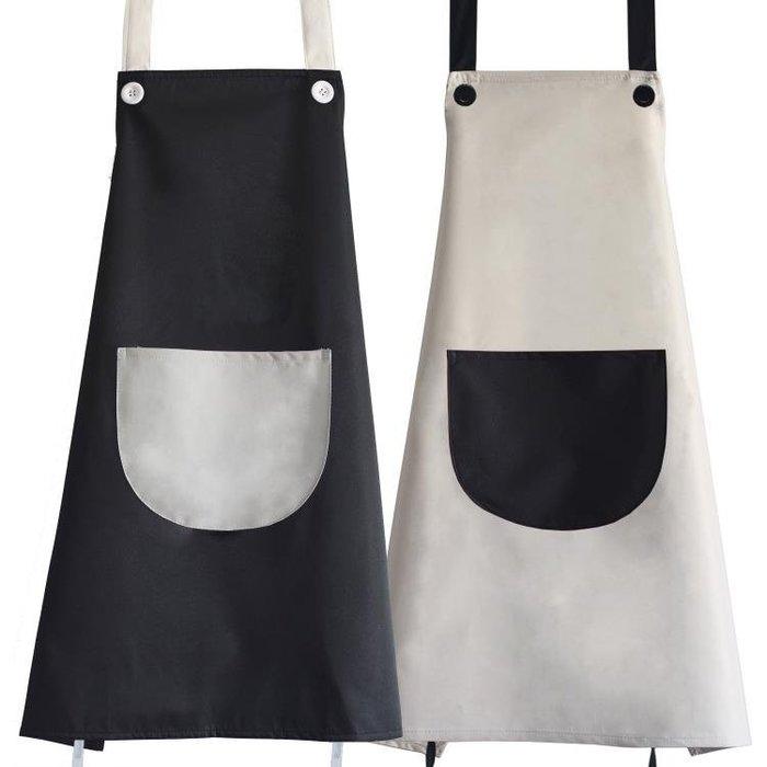 現貨/廚房可愛卡通圍裙防水防油正韓時尚成人男女罩衣咖啡廳定制印logo49SP5RL/ 最低促銷價