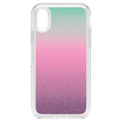 美國原裝正品【OtterBox】iPhone X / XS Symmetry 炫彩幾何系列保護殼 - 綠紫星沙漸層色