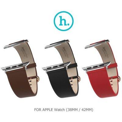 *PHONE寶*HOCO Apple Watch (38mm / 42mm) 優尚皮錶帶 - 經典款