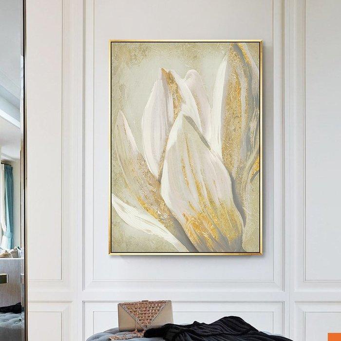 ABOUT。R 金色花卉抽象時尚巨幅掛畫客廳沙發背景牆壁畫室內設計時尚掛畫住宅空間玄關高檔抽象藝術大氣裝飾畫(4款可選)