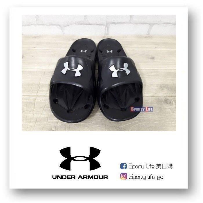 【SL美日購】UNDER ARMOUR LOCKER III SLIDE 運動拖鞋 拖鞋 防水 止滑 黑色 UA拖鞋