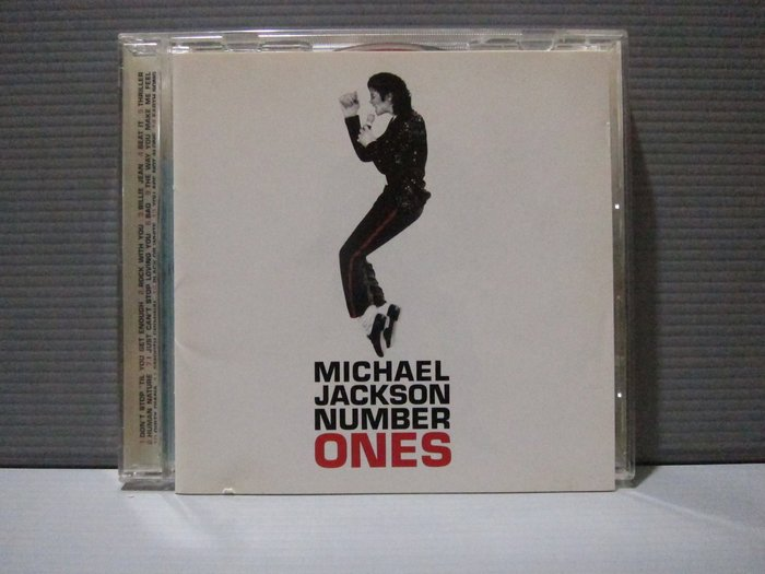 邁克爾杰克遜 Michael Jackson - Number Ones 4張明信片 新力回函卡 有歌詞 CD片有細紋