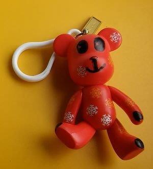 **M8-16** (裸裝無盒)胸前雙心與鼻子也是心形刺繡的熊寶寶絨毛玩偶/吸盤吊飾
