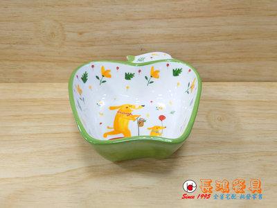 *~ 長鴻餐具~*420CC綠蘋果造型碗手彩   (促銷價) 07705-PG400-4 現貨+預購