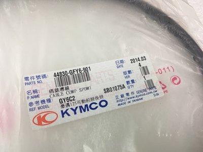 【JUST醬家】KYMCO 原廠 鼓煞 鼓剎 豪邁 GY6 迪爵 碼錶線 碼表線