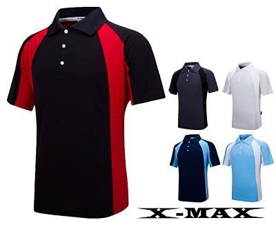 特價299~台灣製~排汗王~X-MAX~冰感雙色POLO衫.涼感紗.抗UV.排汗衫.團體服~登山服~