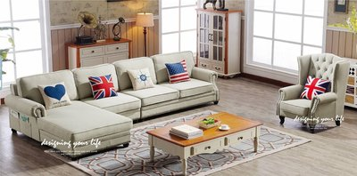 【設計私生活】伊蓮娜L型灰色布藝轉角沙發椅(全館免運費)A系列112S