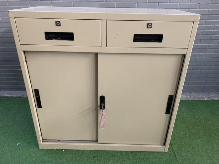 三尺雙抽滑門櫃 鐵櫃 滑門櫃 辦公櫃 文件櫃 收納櫃 置物櫃  A2076-予新傢俱
