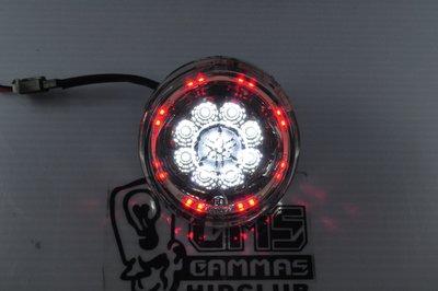 GAMMAS HID 台中廠 三葉YAMAHA BWS'X 大B 鐵男-9晶LED滿天星 光圈   鋼鐵人 小燈08