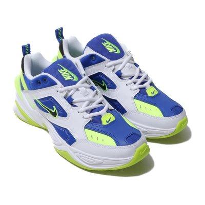 =CodE= NIKE M2K TEKNO 復古皮革慢跑鞋(白藍螢光綠)AV4789-105 老爹鞋 MONARCH 男
