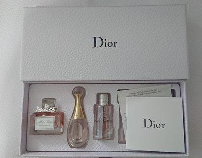 全新Dior迪奧經典香氛組 Miss Dior香氛 5ml+J 'adore香氛 5ml+JOY by Dior 香氛