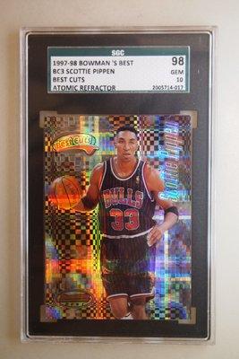1997-98 Bowmans Best Cuts Atomic Refractors Scottie Pippen