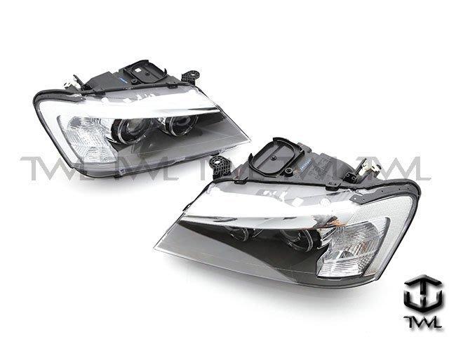 《※台灣之光※》 全新BMW F25 X3 10 11 12年美規鹵素升級原廠型黑底光圈魚眼投射大燈頭燈組