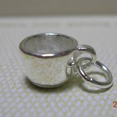 琥珀貓~【925純銀材料配件】墜飾~N9180~水杯~一個