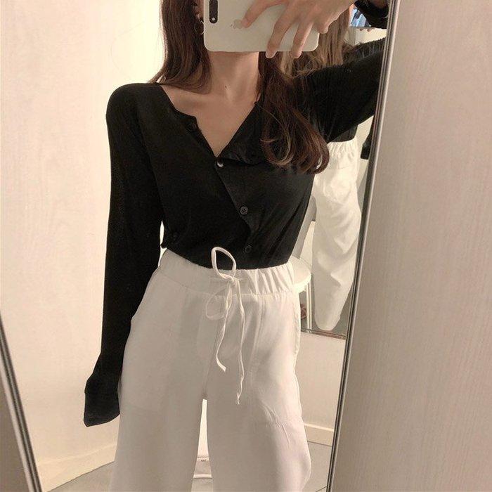 2018新款韩版女时尚港风套装防晒衫外套阔腿休闲裤复古chic两件套
