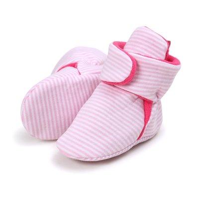 寶貝倉庫~粉條紋高筒不掉鞋~學步鞋~寶...