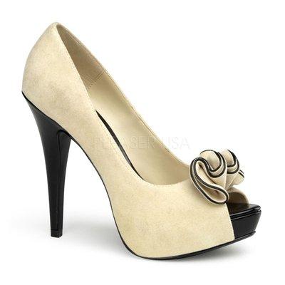 Shoes InStyle《五吋》美國品牌 PIN UP CONTURE 原廠正品麂皮厚底魚口鞋有大尺碼出清『駝米白色』