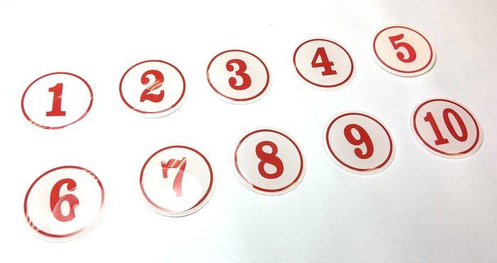 號碼牌 1~100 數字  白底紅字 燙金號 貼牌 標誌牌 號碼貼牌 餐飲(可以自選)請在備註 註明