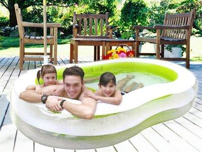 【Treewalker露遊】高質感8字型親子遊戲池 戲水池 游泳池 流線型設計~無毒環保材質 促銷849