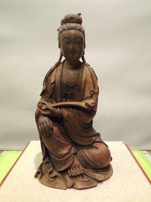 《儒藝城》竹雕老件清朝觀音 (715)