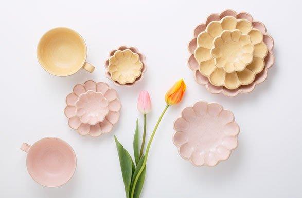 日本美濃燒 六魯系列 24cm花盤